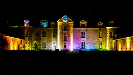 Mise en lumière d'un château pour un mariage